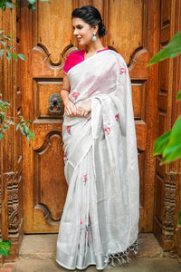 Beautiful Designer Linen Printed Saree MS-2178