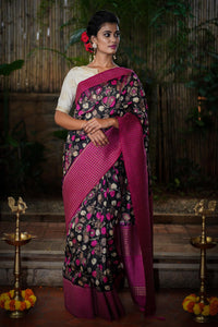 Beautiful Designer Linen Printed Saree MS-2180