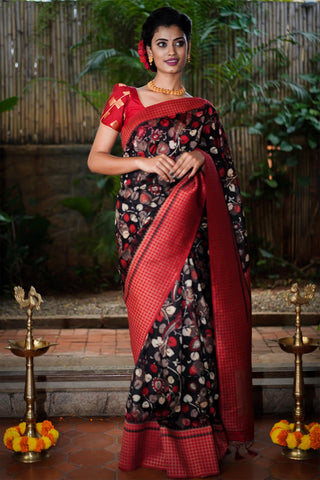 Beautiful Designer Linen Printed Saree MS-2182