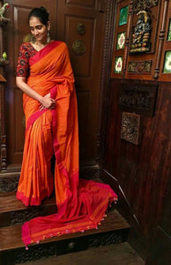 Beautiful Designer Linen Printed Saree MS-2187