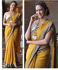 Beautiful Designer Linen Printed Saree MS-2189