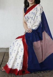 Beautiful Designer Linen Printed Saree MS-2190