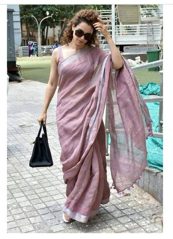 Beautiful Designer Linen Printed Saree MS-2191