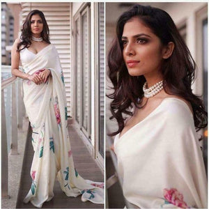 Beautiful Designer Linen Printed Saree MS-2218