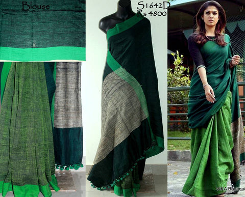 Beautiful Designer Linen Printed Saree MS-2221