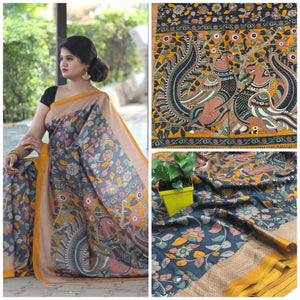 Beautiful Designer Linen Printed Saree MS-2223