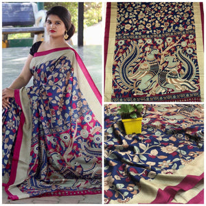 Beautiful Designer Linen Printed Saree MS-2225