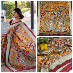 Beautiful Designer Linen Printed Saree MS-2226