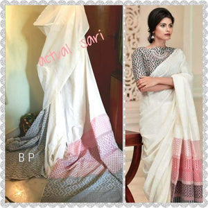 Beautiful Designer Linen Printed Saree MS-2242