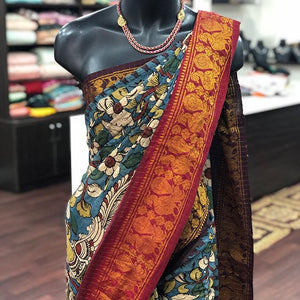 Beautiful Designer Linen Printed Saree MS-2256