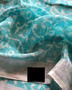 Beautiful Designer Linen Printed Saree MS-2282