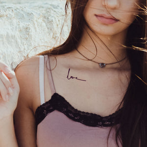 love tatouage temporaire minimaliste (lot de 3)