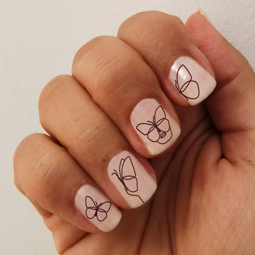 stickers autocollants pour ongles de papillon