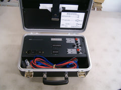 Merlin Gerin ME Test Kit Secondary Injection Test Set is used for field testing MASTERPACT® Circuit Breakers and COMPACT® Circuit Breakers ST, STR, and STCM Trip Units.