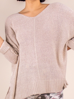 Pullover Sweater Loose-Knit Cream