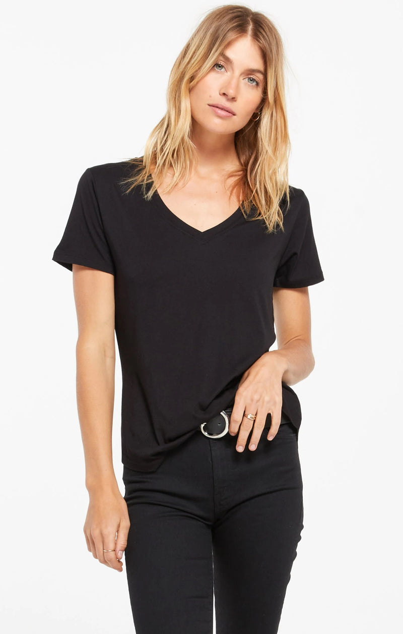 Z Supply Black V-Neck Tee