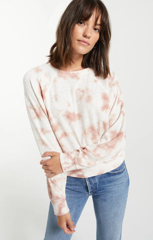 Z Supply Mauve Cloud Tie-Dye Top