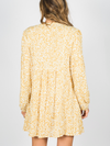 Safari Dress in Yellow & Cream Leopard