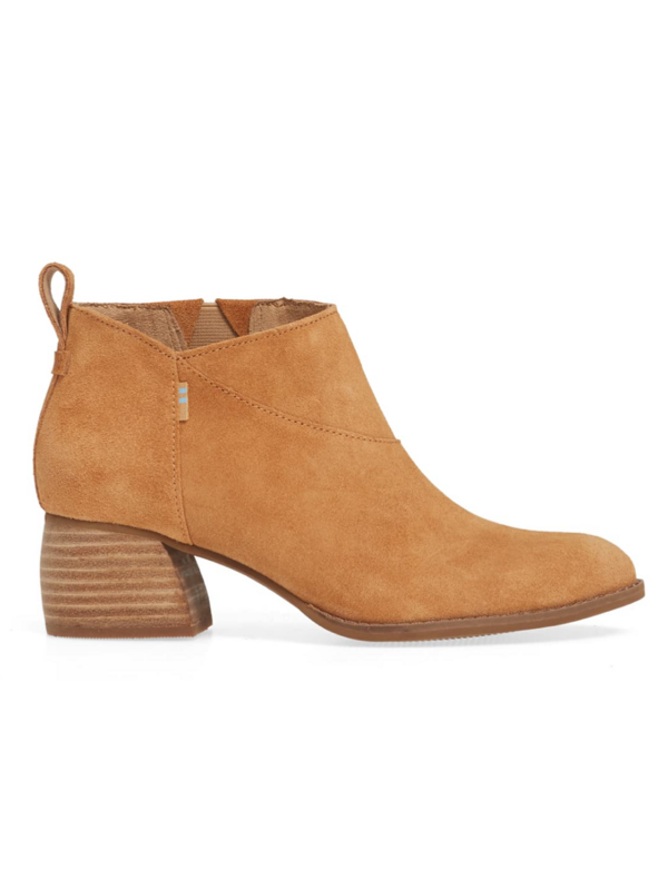 Toms Leilani Boots in Carmel Brown Suede