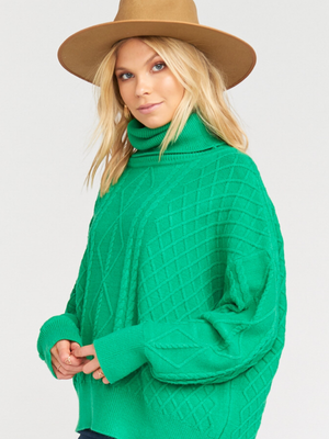 Show Me Your Mumu- Farren Turtleneck in Green Fir