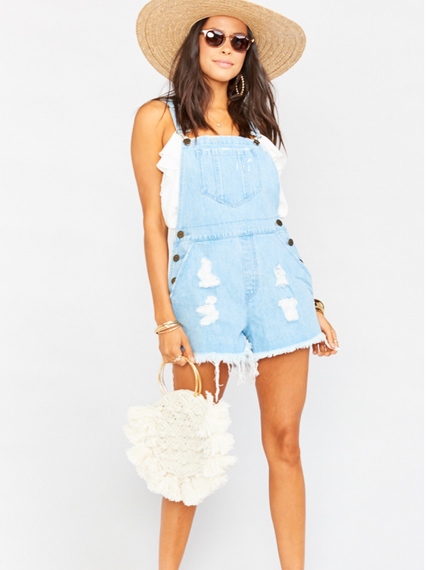 Show Me Your Mumu- Georgia Denim Overall Shorts