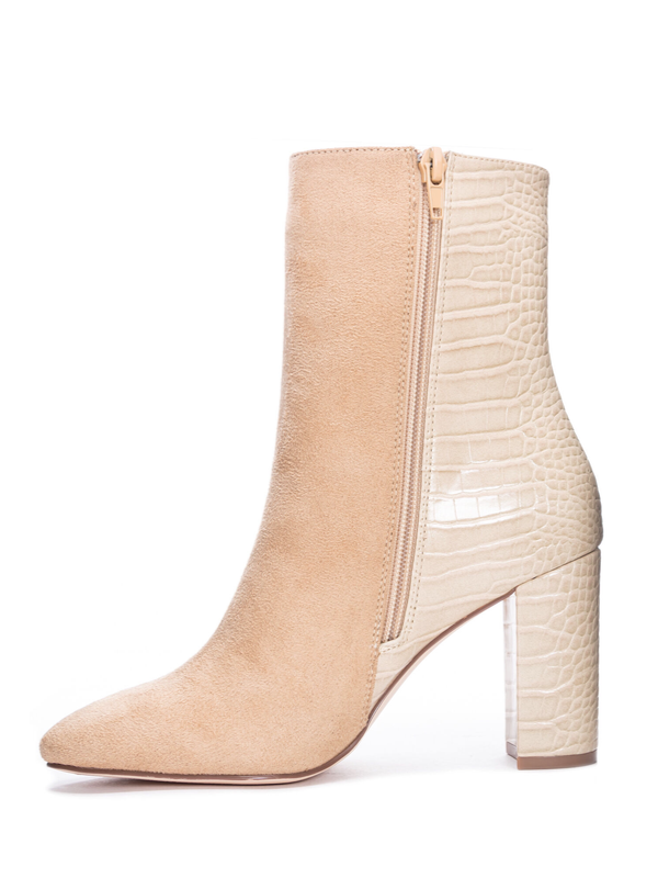 Chinese Laundry Koraline Suede Beige Boot