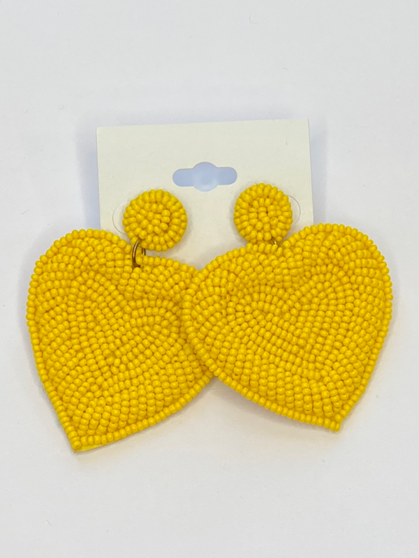 Sunshine Heart Earrings