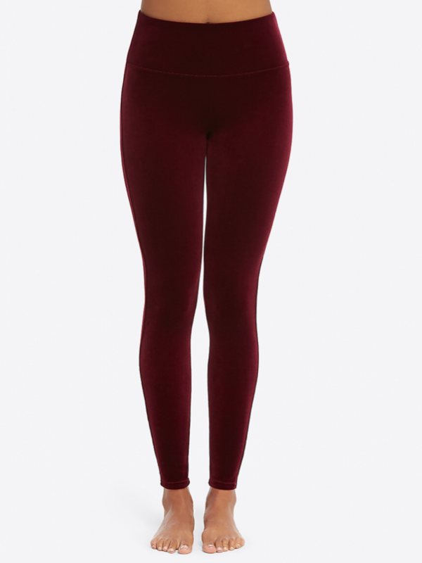 SPANX Velvet Wine Leggings