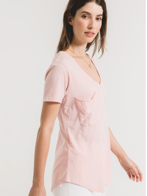 Pocket Tee in Pale Blush