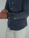 Puremeso Longsleeve Buttown Down in Navy