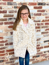 Z Supply Girls Avery Leopard Jacket