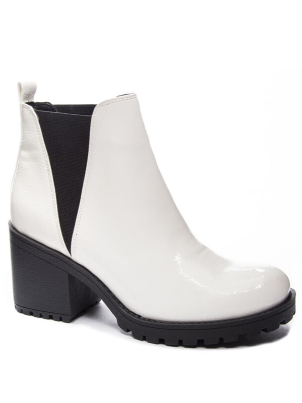 Dirty Laundry- Lisbon Bootie White
