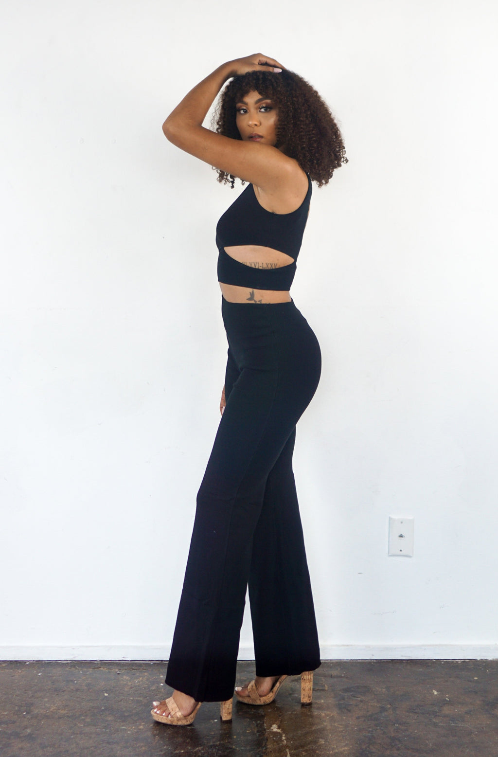 Wrapped Bodice Jumpsuit