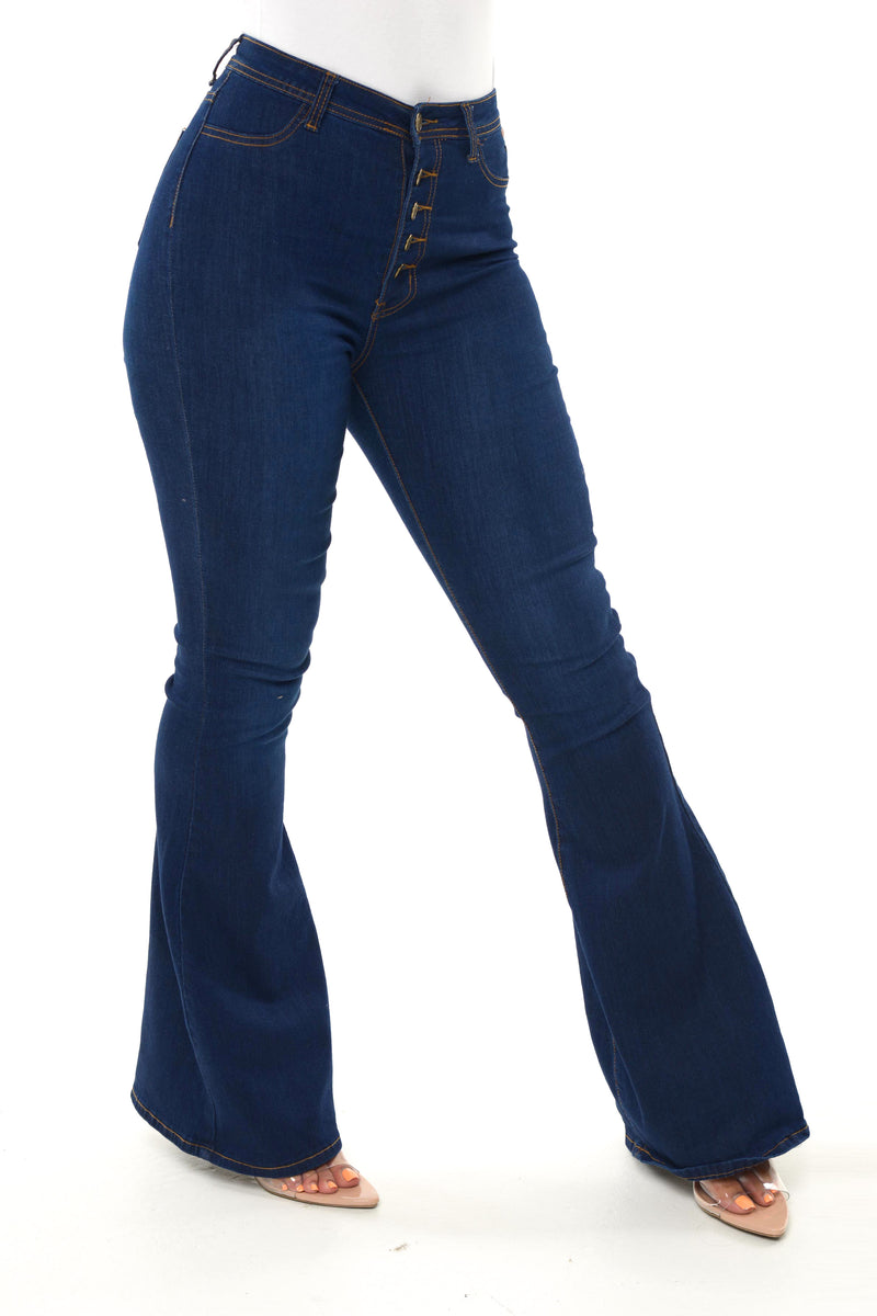 Dark Denim Bell Bottoms