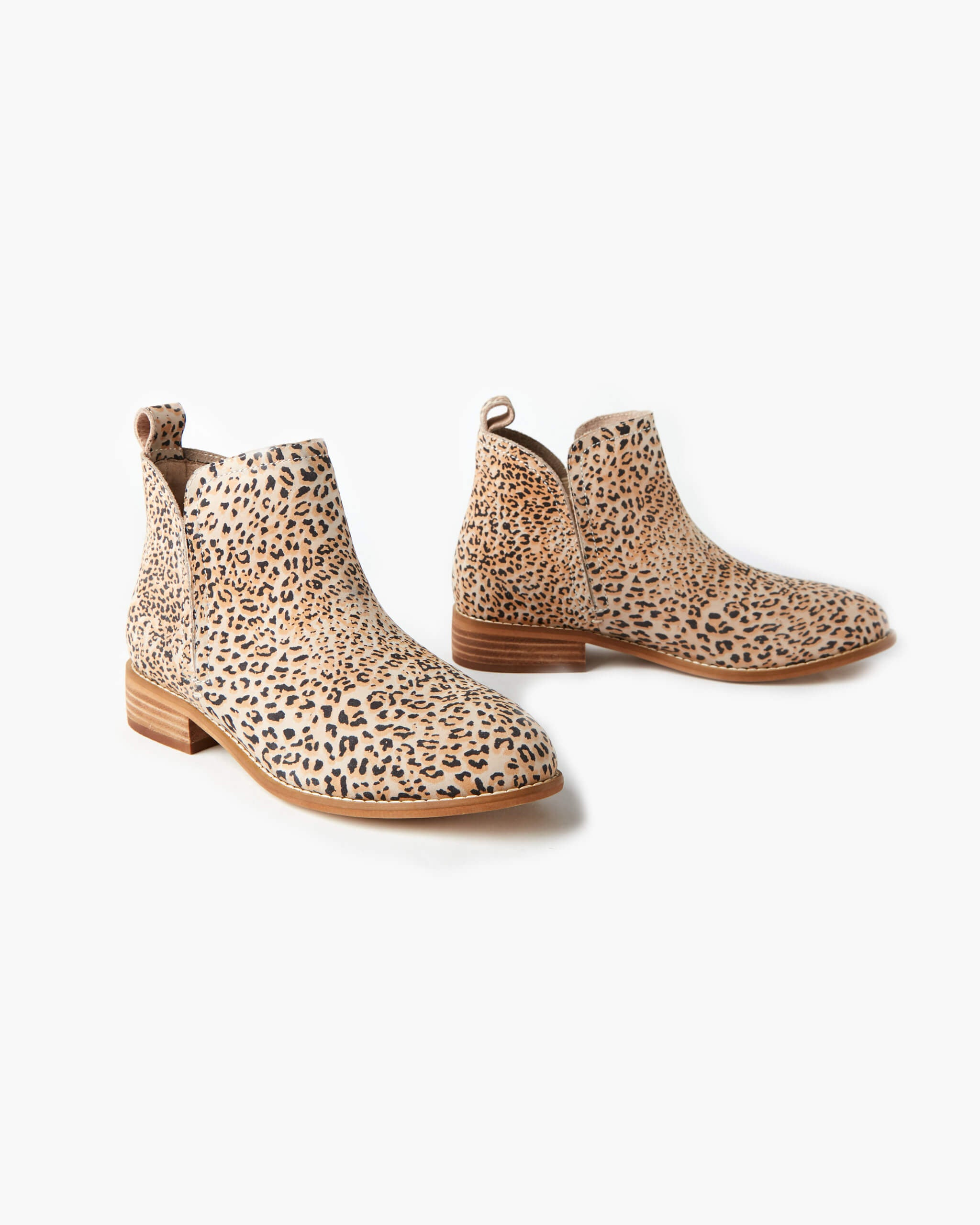 Douglas Leather Ankle Boot - Honey Leopard