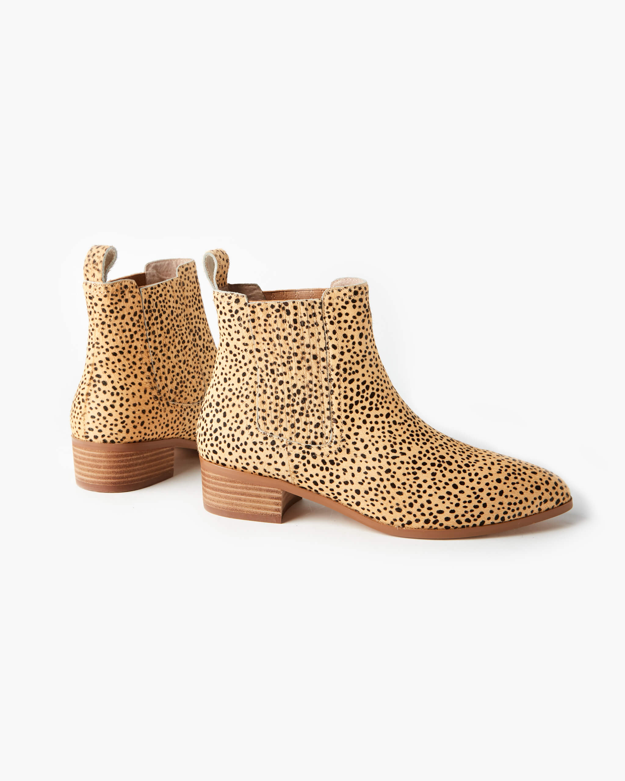 Jada Leather Boot - Tan Cheetah