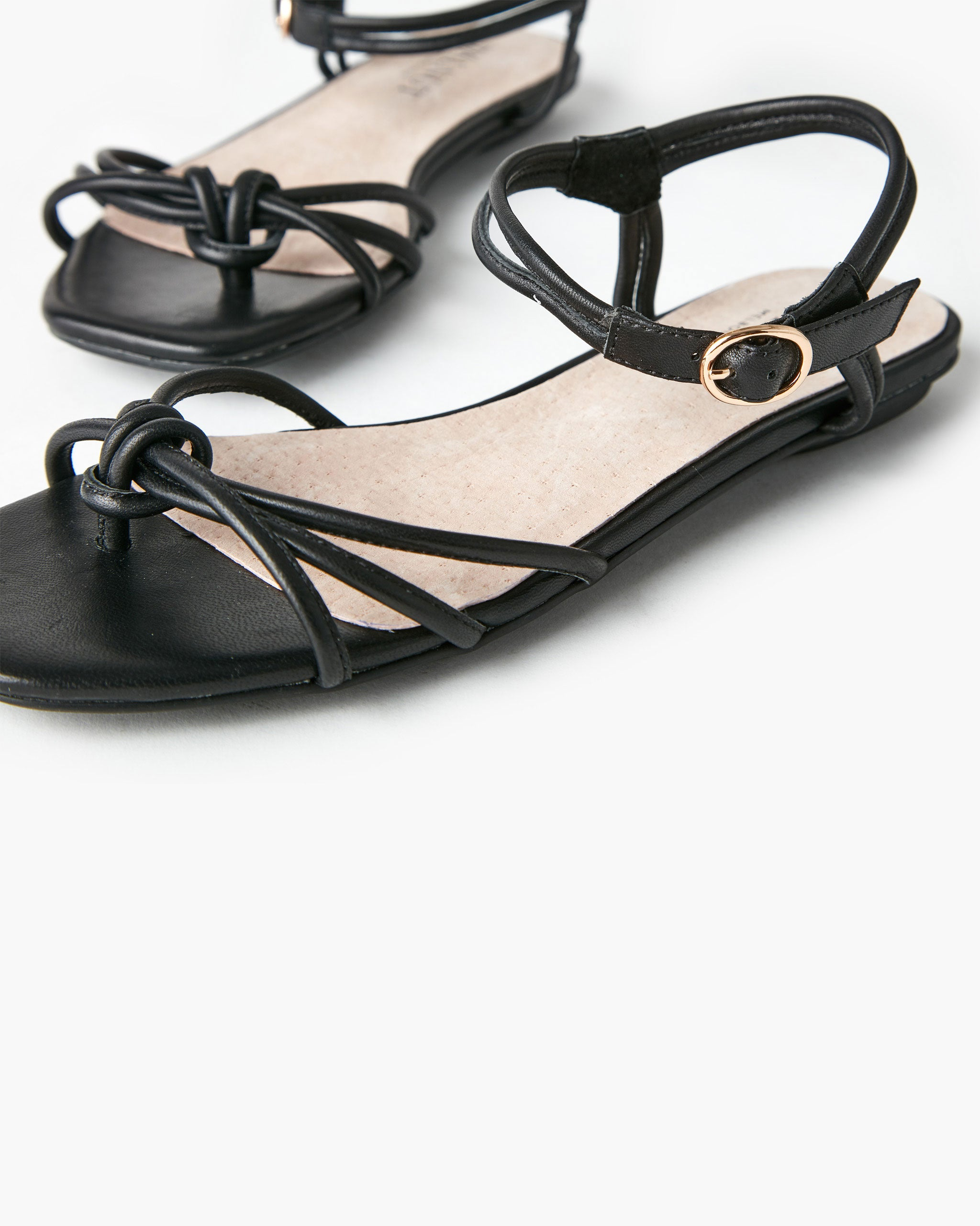 Ramzi Leather Sandal - Black