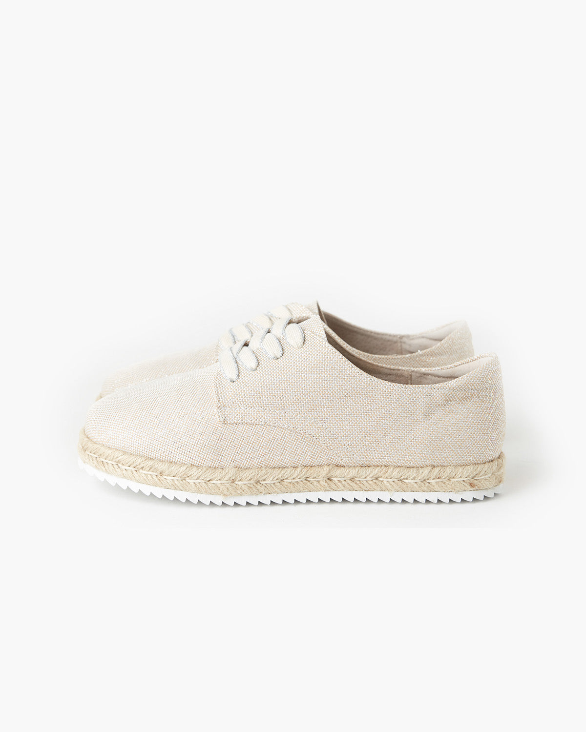 Giselle Canvas Espadrille - Metallic