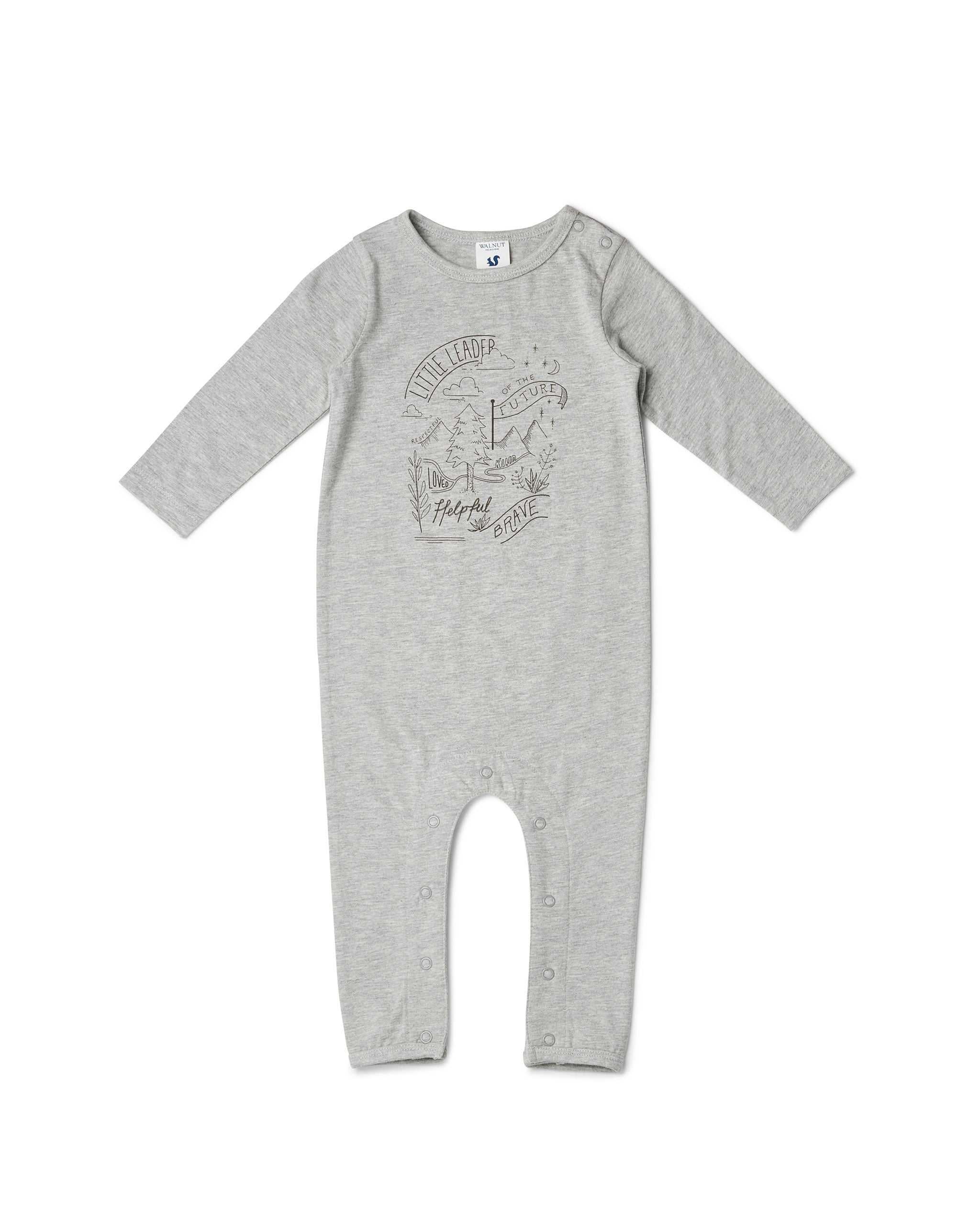 Scout Onesie - Little Leader Grey