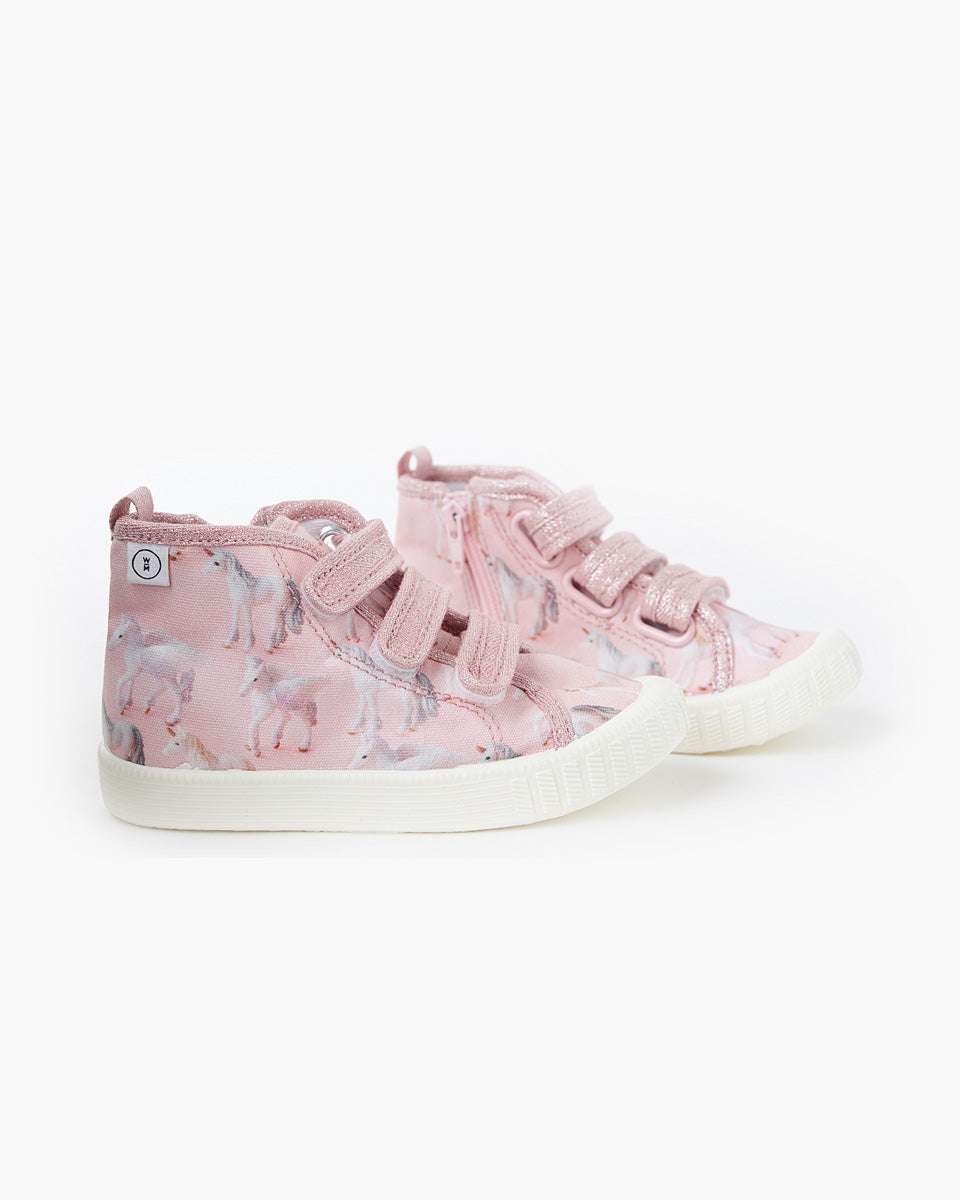 Poppies Billie High Top Canvas - Unicorns