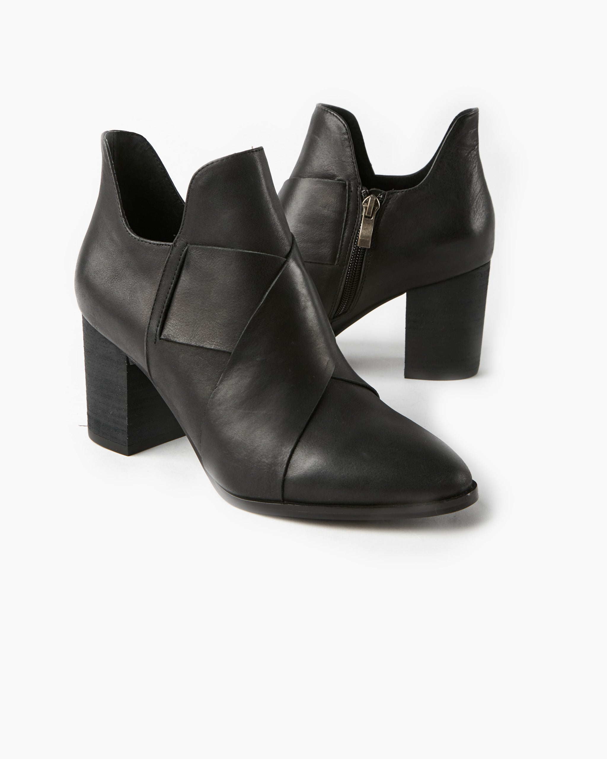 Manee Leather Ankle Boot - Black