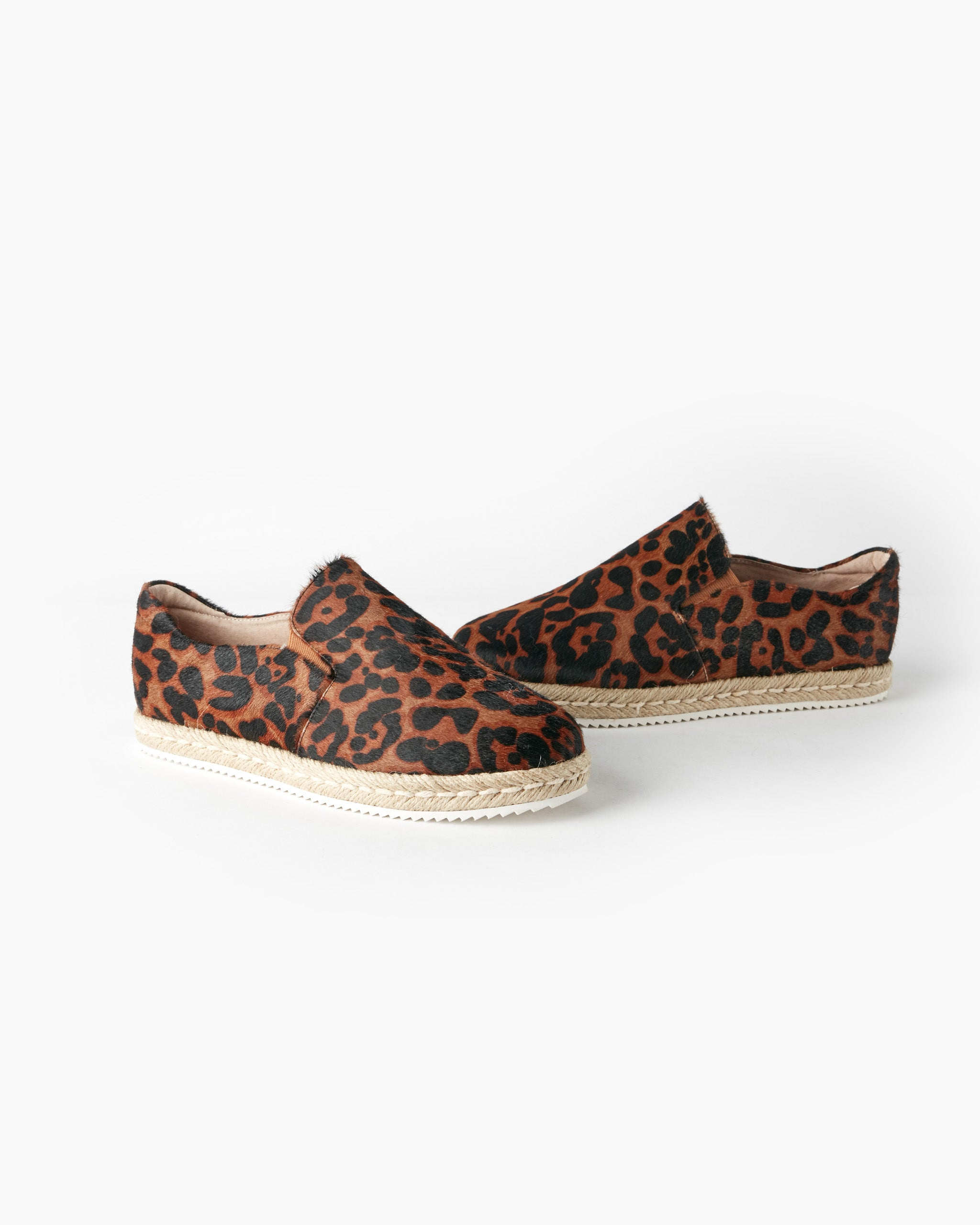 Goldie Leather Espadrille - Chocolate Leopard