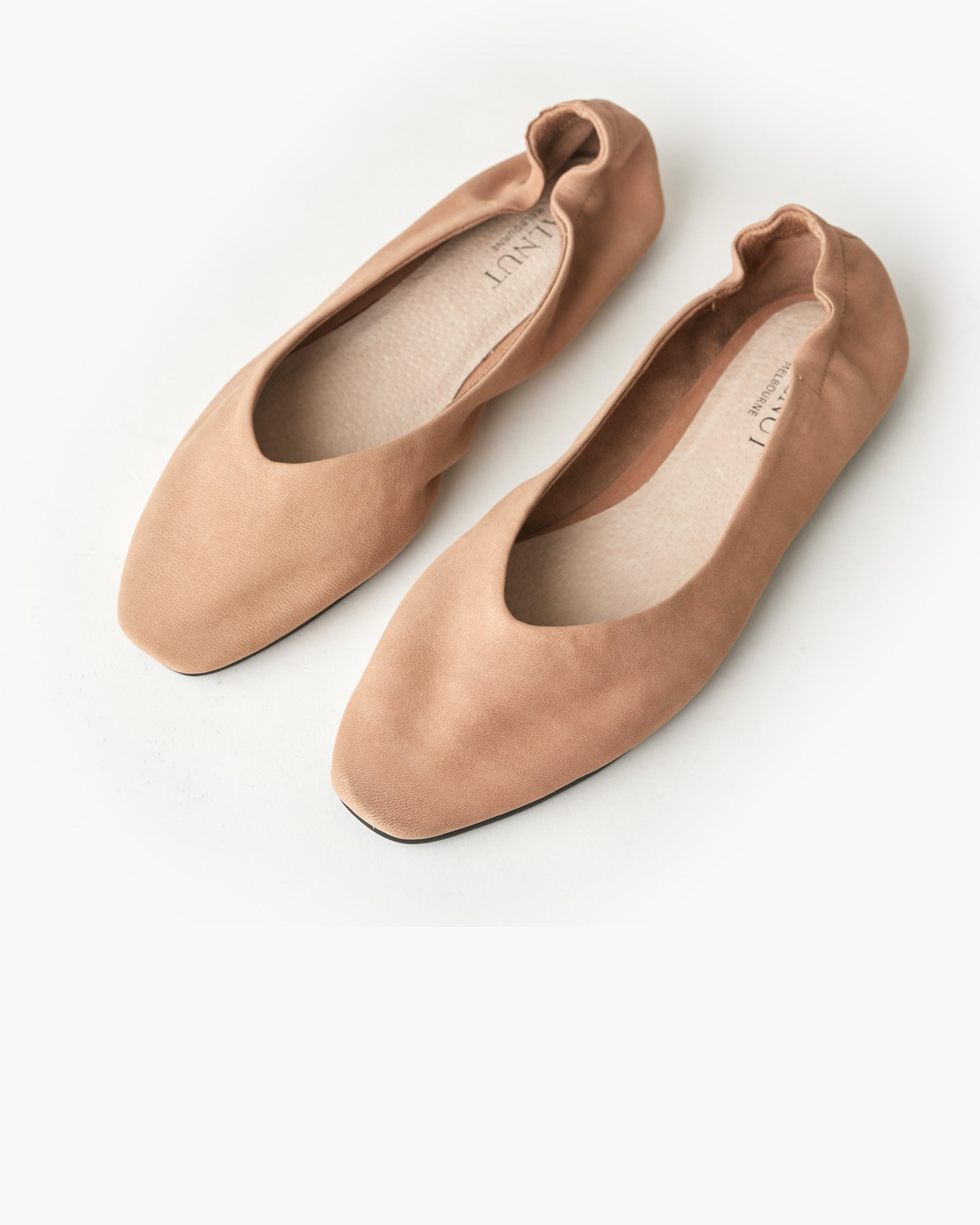 Becca Leather Ballet Flat - Taupe