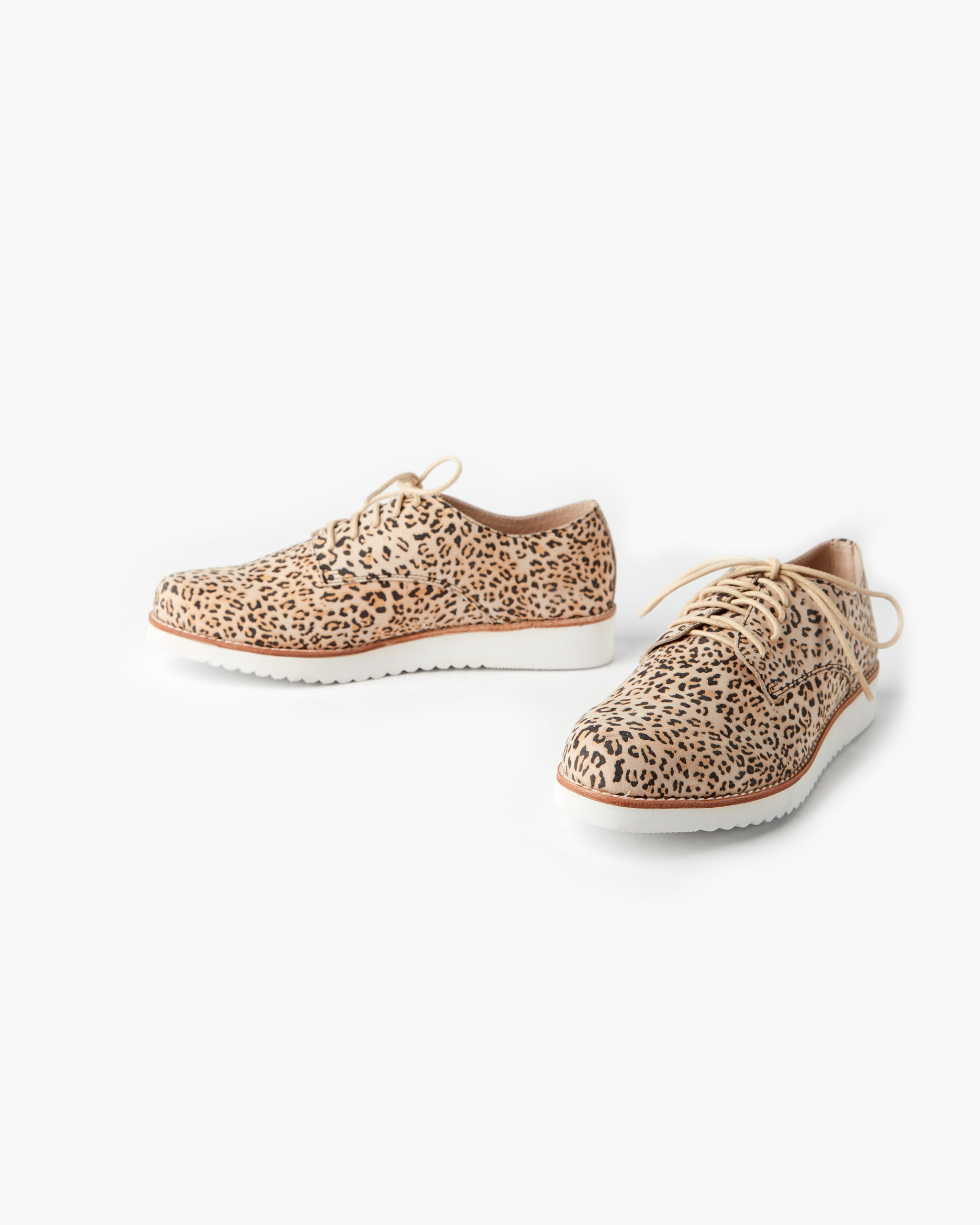 Mila Leather Lace Up - Honey Leopard