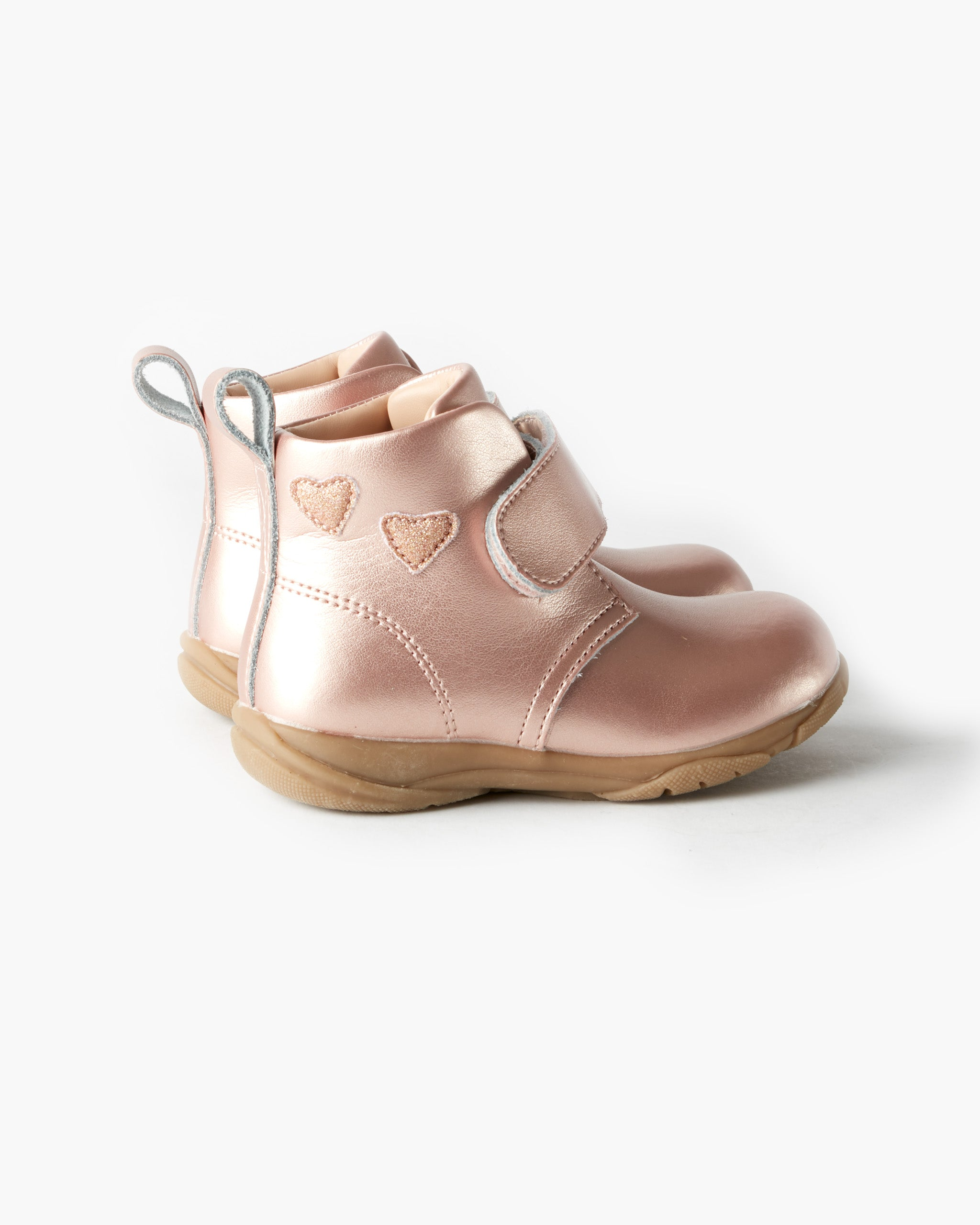 Rover Heart Leather Boot - Rose Gold