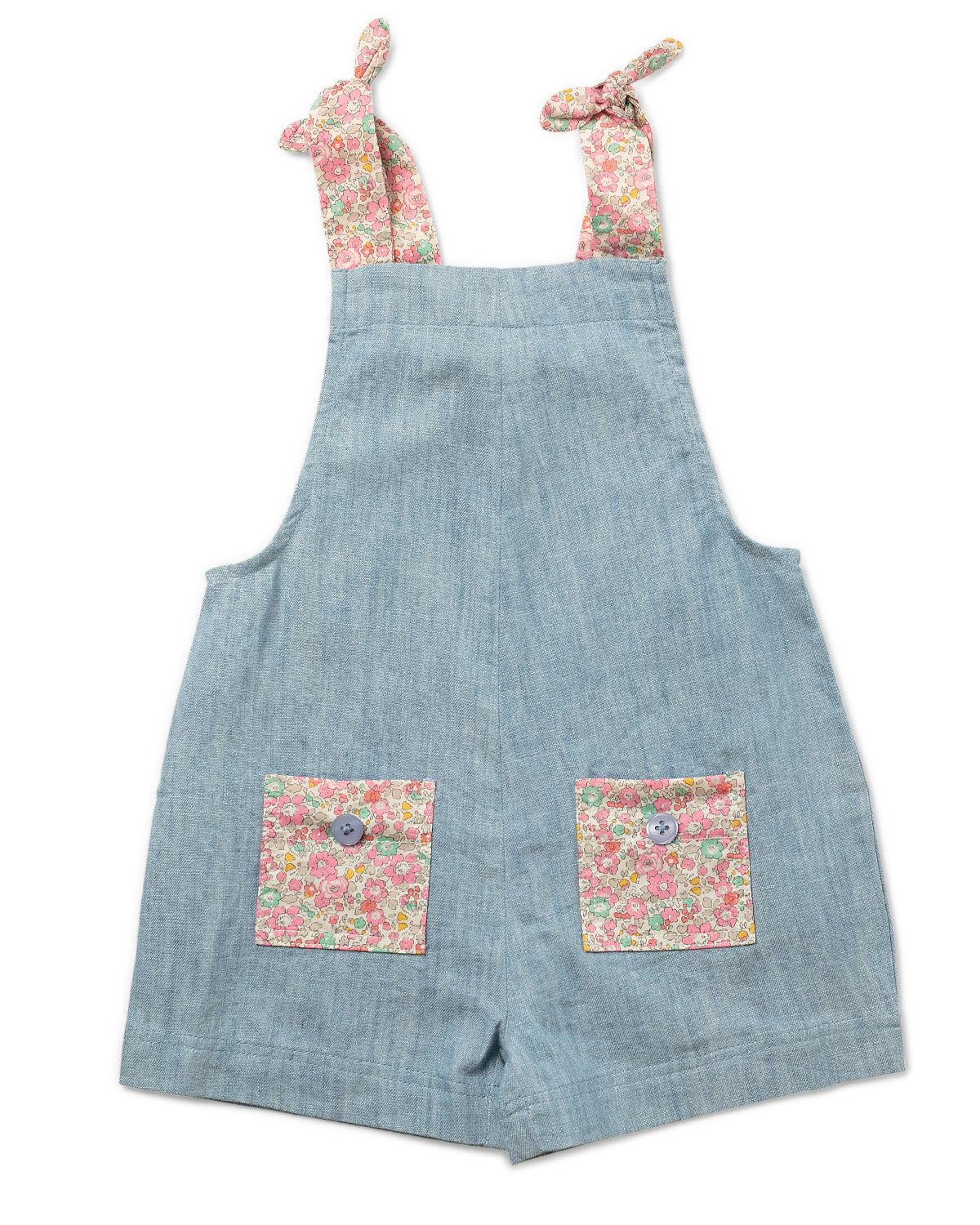 Petal Romper Liberty Fabric  - Chambray