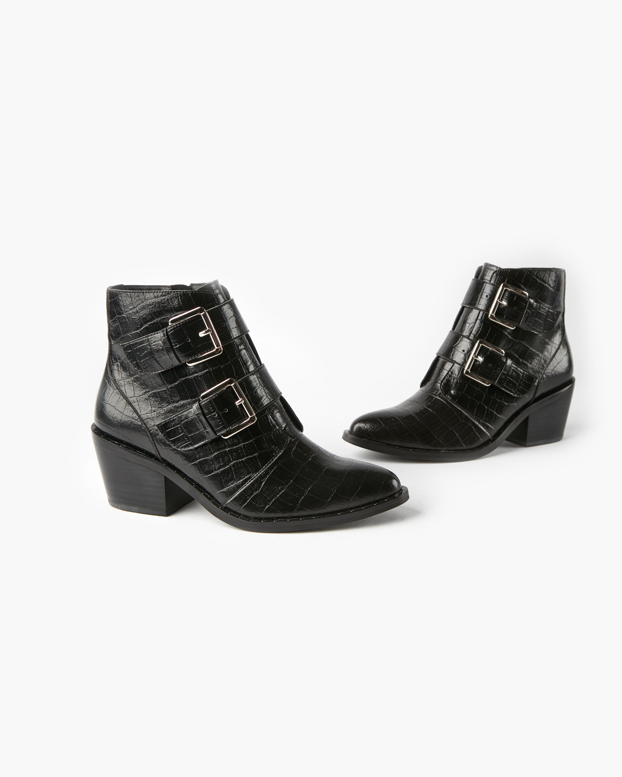 Whisper Ankle Boot - Black Croc