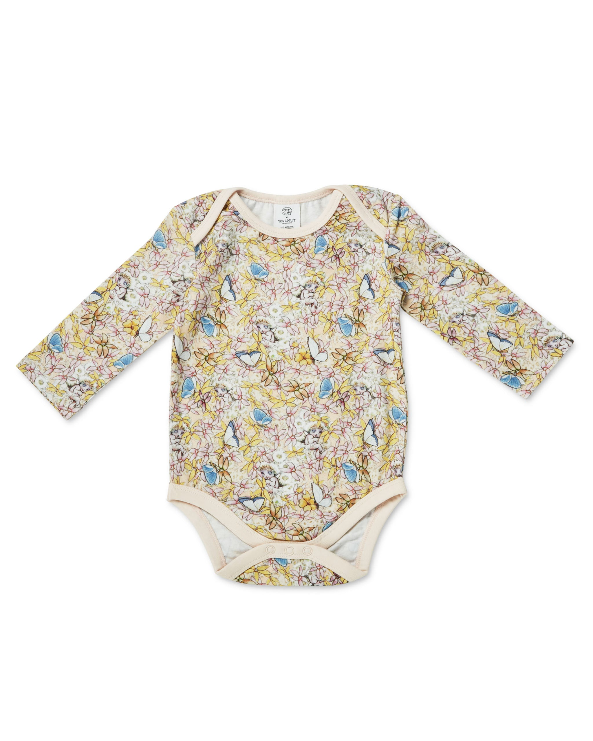 May Gibbs Winter Onesie - Gum Blossom