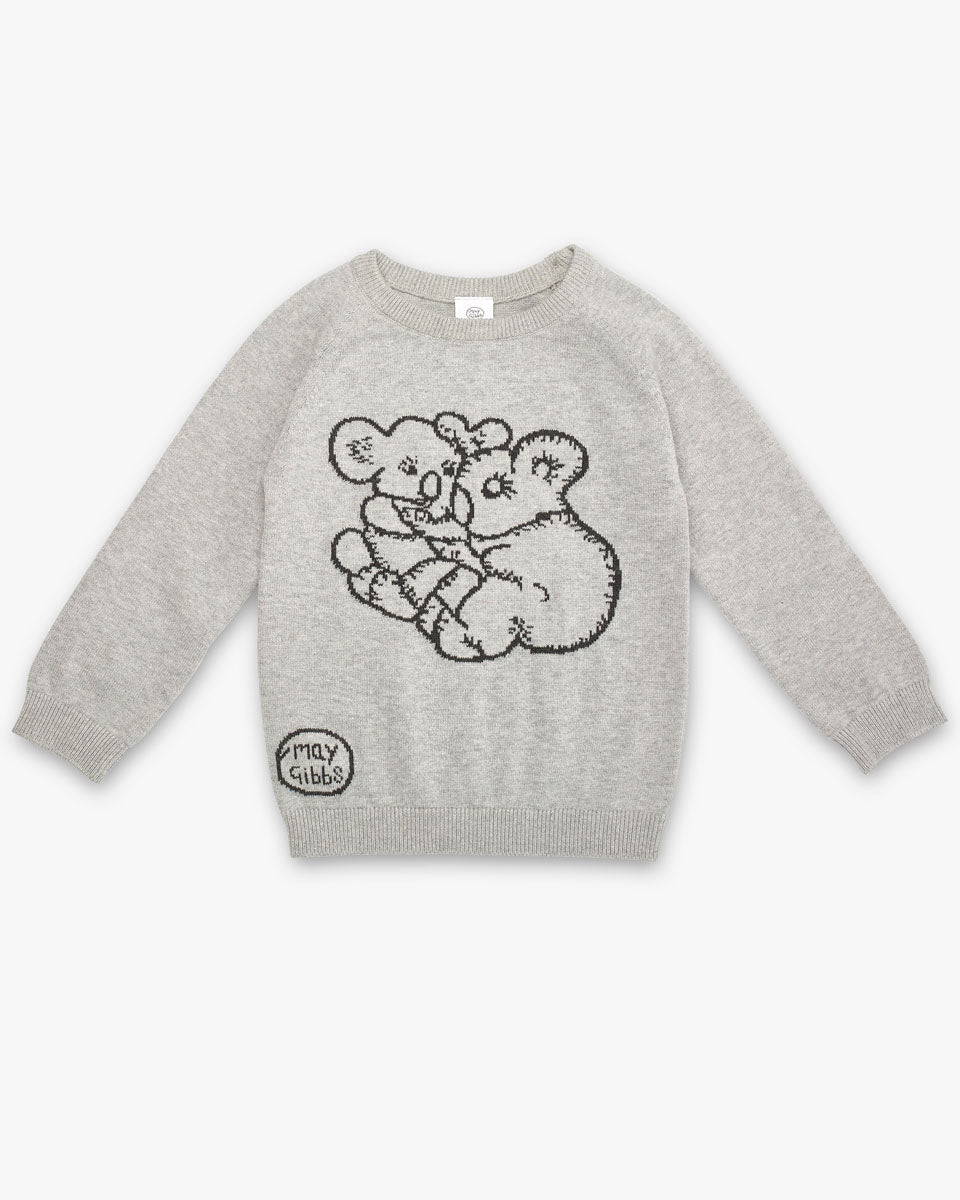 May Gibbs Cuddle Knit Jumper - Koala Grey