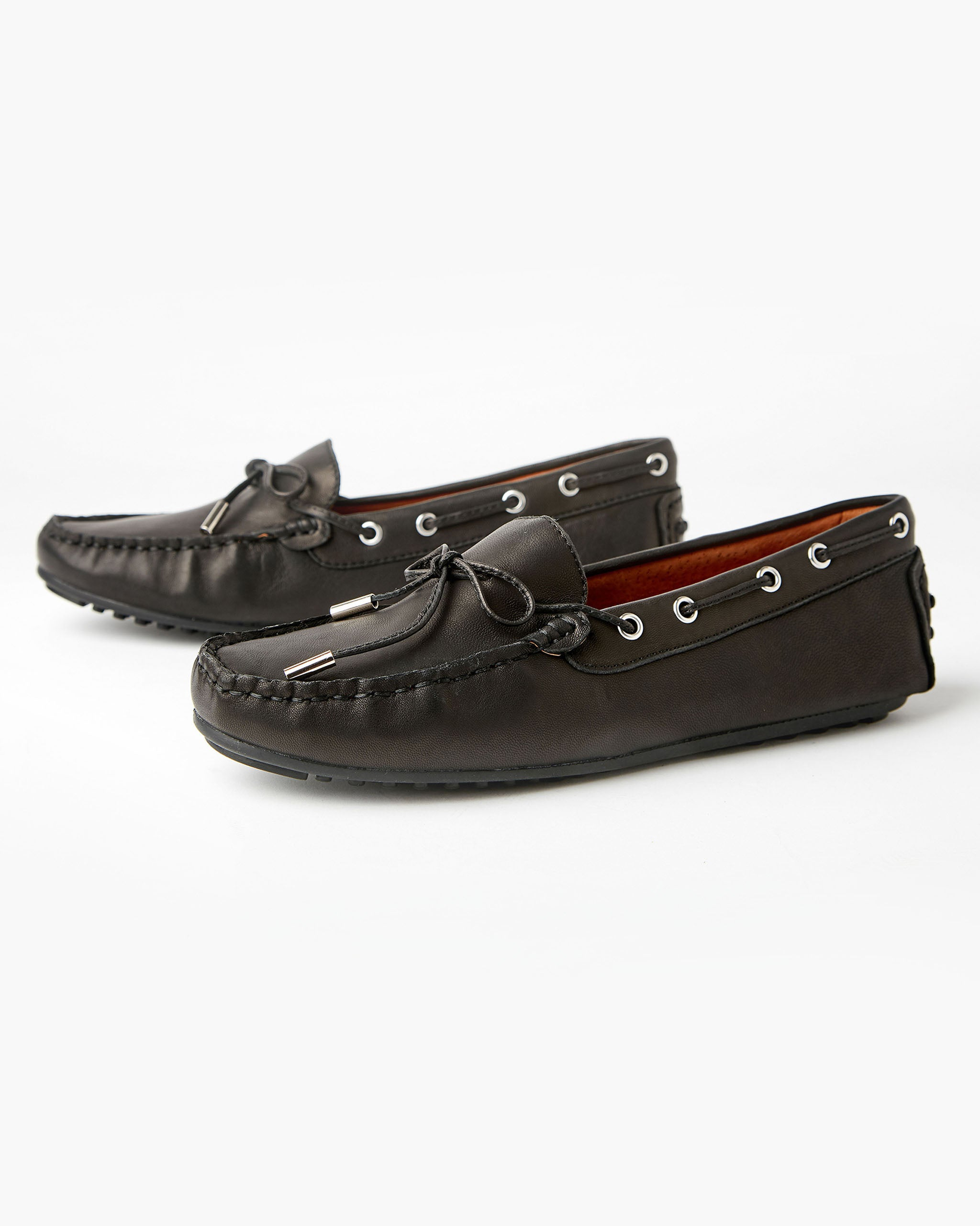 Daria Leather Loafer Black
